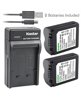 Kastar Battery (X2) & Slim USB Charger for Panasonic CGA-S006, CGR-S006 and Panasonic Lumix DMC-FZ7, DMC-FZ8, DMC-FZ18, DMC-FZ28, DMC-FZ30, DMC-FZ35, DMC-FZ38, DMC-FZ50 Digital Camera