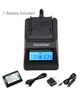 Kastar Ultra Fast Charger(3X faster) Kit and Battery (1-Pack) for Sony NP-FV30, NP-FV40, NP-FV50 work with Sony DCR-SR88, SX85, FDR-AX100, HDR-CX160, CX190, CX380, CX430V, CX520V, CX550V, CX560V, CX580V, CX700V, CX760V, CX900, HC9, PJ260V, PJ340, PJ380, P