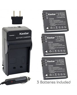 Kastar 3X Battery + Charger for Panasonic Lumix CGA-S008 DMW-BCE10 VW-VBJ10E BP-DC6 & Panasonic Lumix DMC-FX520 SDR-S25 SDR-S26 DMC-FS20 DMC-FX37 DMC-FX55 DMC-FX500 DMC-FS5 DMC-FX30 DMC-FX33 DMC-FX35