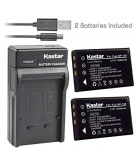 Kastar Battery (X2) & Slim USB Charger for Fujifilm NP-120 NP120 FNP120 D-LI7 DB-43 and Fujifilm Finepix 603 M603 F10 F11 Zoom Pentax Optio 450 550 555 750 750Z MX MX4 Camera