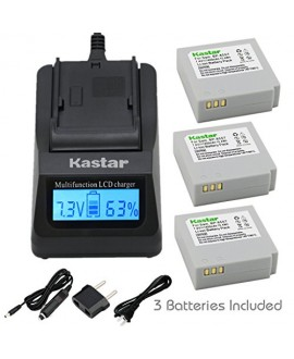 Kastar Ultra Fast Charger(3X faster) Kit and Battery (3-Pack) for Samsung IA-BP85NF, IA-BP85ST work with Samsung HMX-H100, HMX-H104, HMX-H105, HMX-H106, SC-HMX10, SC-HMX20C, SC-MX10, SC-MX20, SMX-F30, SMX-F33, SMX-F34, VP-HMX08, VP-HMX10, VP-HMX10C, VP-HM