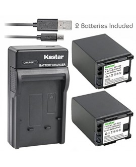 Kastar X2 Fully Decoded Battery + Slim USB Charger for Canon BP-828 BP828 and Canon VIXIA HF G30, XA20, XA25 Camcorders