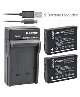 Kastar Battery (X2) & Slim USB Charger for Panasonic DMW-BCG10 and Lumix DMC-ZS1, ZS3, ZS5, ZS6, ZS7, ZS8, ZS10, ZS15, ZS19, ZS20, DMC-TZ7, DMC-TZ10, DMC-TZ19, DMC-TZ20, DMC-TZ30, DMC-ZR1, DMC