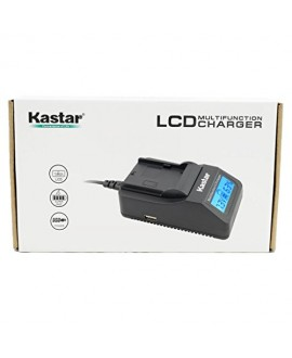 Kastar Ultra Fast Charger(3X faster) Kit and Battery (1-Pack) for Casio NP-90 work with Casio Exilim EX-H10 EX-H15 EX-H20G EX-H20GBK EX-H20GSR EX-FH100 EX-FH100BK Cameras [Over 3x faster than a normal charger with portable USB charge function]