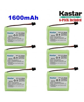 Kastar 6-PACK AA*3 3.6V 1600mAh MSM Ni-MH Rechargeable Battery for Panasonic Type 1 P-P501 PP501 P-P501A PP501A P-P501PA P-P504 PP504 P-P508 P-P508A P-P510 P-P510A PP510A, PQP60AAF3G2 PQP85AA3A