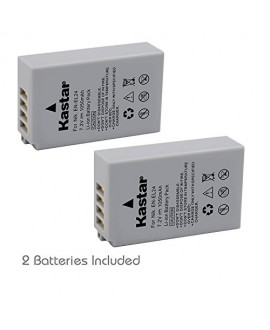 [Fully Decoded] Kastar EN-EL24 Battery (2-Pack) for Nikon EN-EL24 ENEL24 Rechargeable Li-ion Battery work with Nikon 1 J5 Camera