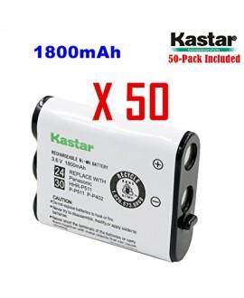 Kastar HHR-P511 / HHR-P402 Battery (50-Pack), Type 24 / 30 NI-MH Rechargeable Cordless Telephone Battery 3.6V 1800mAh, Replacement for Panasonic HHR-P511, HHR-P402, P-P511, P-P511A, HHR-P402A