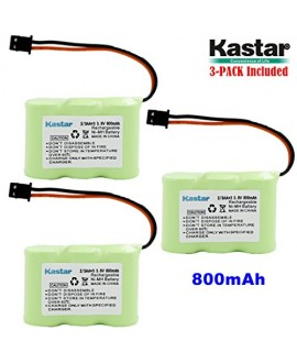 Kastar 3-P 2/3AA 3.6V 800mAh MSM Ni-MH Rechargeable Battery for Panasonic KX-TCM410 KX-A36 P-P301 Sony SPP-72/AQ25/AQ600 1-528-376-31 BP-T16/T185 Toshiba FF-675 FT-6203 TRB-5000 Uniden XC-315/330/600