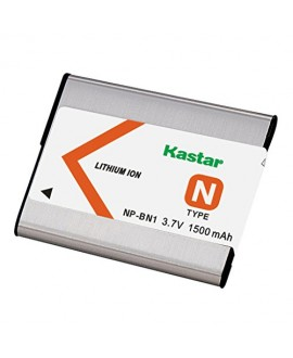 Kastar Battery (1-Pack) for NP-BN1, BC-CSN work with Sony Cyber-shot DSC-QX10,DSC-QX100,DSC-T99,DSC-T110,DSC-TF1,DSC-TX5,TX7,TX9,DSC-TX10,DSC-TX20,DSC-TX30,DSC-TX55,DSC-TX66,DSC-TX100V,DSC-TX200V,DSC-W310,DSC-W320,DSC-W330,DSC-W350,DSC-W360,DSC-W380,DSC-W