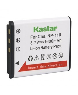 Kastar CNP110 Battery (1-Pack) for Casio NP-110, NP110 and Casio Exilim EX-FC200S, EX-Z2000, EX-Z3000, EX-ZR10, EX-ZR15, EX-ZR20 Camera