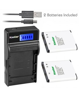 Kastar Battery (X2) & Slim LCD USB Charger for Nikon EN-EL19 MH-66 & Coolpix S32 S100 S2500 S2600 S2700 S3100 S3200 S3400 S3500 S3600 S4100 S4200 S4300 S4400 S5200 S5300 S6400 S6500 S6600 S6700 S6800