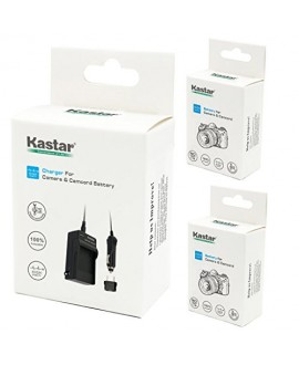 Kastar Battery (X2) & Travel Charger Kit for Canon BP-2L12 BP-2L14 BP-2L15 BP-2L24H BP-2L5 NB-2L12 NB-2L14 and DC310 DC330 Elura 60 Vixia HG10 Vixia HV20 Vixia HV30 ZR100 ZR200 ZR300 ZR500 ZR600 ZR800
