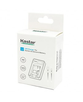 Kastar LCD Slim USB Charger for Canon LP-E6 and EOS 5DS, 5DS R, 5D Mark II, 5D Mark III, 6D, 7D, 7D Mark II, 60D, 60Da, 70D, 80D, XC10 DSLR Camera, BG-E16, BG-E14, BG-E13, BG-E11, BG-E9, BG-E7, BG-E6