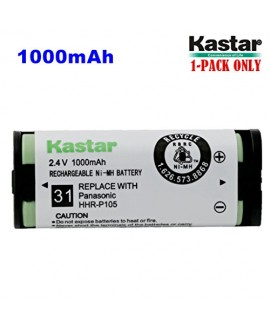 Kastar HHR-P105 Battery, Type 31, NI-MH Rechargeable Cordless Telephone Battery 2.4V 1000mAh, Replacement for Panasonic HHRP105 HHR-P105 HHRP105A HHR-P105A (Detail Models in the Description)