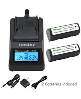 Kastar Ultra Fast Charger(3X faster) Kit and Battery (2-Pack) for Fujifilm NP-80, KLIC-3000 work with Fujifilm Finepix 1700z, 2700, 2900z, 4800 Zoom, 4900 Zoom, 6800 Zoom, 6900 Zoom, MX-1700, MX-1700z, MX-2700, MX-2900, MX-2900z, MX-4800, MX-4900, MX-6800
