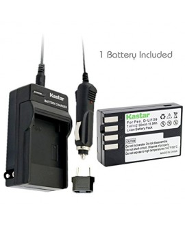 Kastar D-Li109 Battery (1-Pack) and Charger Kit for Pentax D-Li109, DLI109 work with Pentax K-R, K-30, K-50, K-500, KR, K30, K50, K500 Cameras