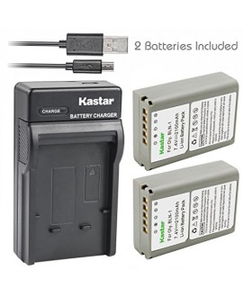 Kastar Battery (X2) & Slim USB Charger for Olympus BLN-1, BCN-1, BLN1 and Olympus OM-D E-M1, OM-D E-M5, PEN E-P5 Digital Camera