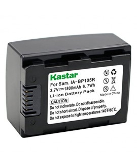 IA-BP105R Battery Pack for Samsung HMX-F80, HMX-F80BN, HMX-F80SN, HMX-F90, HMX-F90BN, HMX-F90WN, HMX-F800, HMX-F900, HMX-F900WN, SMX-F50, SMX-F50BN, SMX-F53, SMX-F54, SMX-F500, SMX-F501, SMX-F530, SMX-F70, SMX-F700, HMX-H300, HMX-H300BN, HMX-H303, HMX-H30