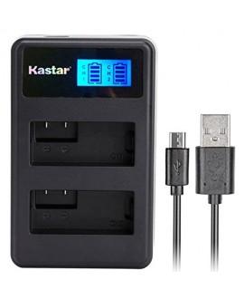 Kastar LCD Dual Slim Charger for GoPro AHDBT-201, AHDBT-301, AHDBT-302, Gopro3 and GoPro Hero3+, Hero3, HD Motorsports HERO, Surf Hero, Hero Naked, Hero 960, Hero HD 1080p