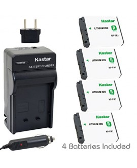 Kastar NP-FR1 Battery (4-Pack) and Charger Kit for Sony NPFR1 BC-TR1 and Sony Cyber-Shot DSC-F88 DSC-G1 DSC-P100 DSC-P100/LJ DSC-P100/R DSC-P120 DSCP150 DSC-P200 DSC-T30 DSC-T50 DSC-V3 Cameras