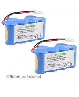 Kastar V1950 Battery (2 Pack), Ni-MH 7.2V 3800mAh, Replacement for Euro-Pro Shark Vacuum V1950 VX3 Replacing XB1918