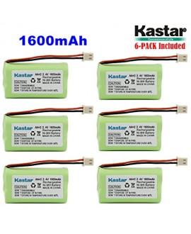 Kastar 6 PACK AAX2 2.4V Phone Battery for Vtech Bt17333 Bt27333 Cs2111 Cs5111 Cs5121 Cs5121-2 Cs5111-2 Cs5121-3 Cs5211 At&t 01839 24112 4128 El41108 El41208 Radio Shack Cs90174 12280731 23-956 23-9069