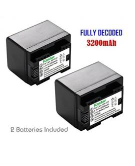 Kastar (FULLY DECODED) Battery (2-Pack) for Canon BP-727 and VIXIA HF M50, HF M52, HF M500, HF R30, HF R32, HF R40, HF R42, HF R50, HF R52, HF R60, HF R62, HF R300, HF R400, HF R500, HF R600 Cameras