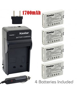 Kastar BP110 Battery (4-Pack) and Charger Kit for Canon BP-110 and Canon VIXIA HF R20, HF R21, HF R200, HF R26, HF R28, HF R206, XF105 Cameras
