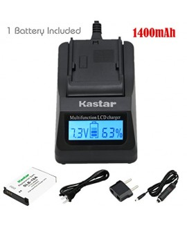 Kastar Ultra Fast Charger (3X faster) Kit and Battery (1-Pack) for Samsung SLB-10A and JVC BN-VH105 work with Samsung ES50, ES55, ES60, EX2F, HMX-U10, HMX-U20, HZ10W, HZ15W, IT100, L100, L110, L200, L210, L310W, M100, M110, M310W, NV9, P800, P1000, PL50,