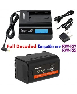 Kastar Fast Charger and BP-U30 Battery (1X) for Sony BP-U90 BP-U60 BP-U30 and PXW-FS7/FS5/X180 PMW-100/150/150P/160 PMW-200/300 PMW-EX1/EX1R PMW-EX3/EX3R PMW-EX160 PMW-EX260 PMW-EX280 PMW-F3/F3K/F3L