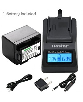 Kastar Ultra Fast Charger(3X faster) Kit and Battery (1-Pack) for Canon BP-727, BP-718, BP-709, CG-700 and Canon VIXIA HF M50, HF M52, HF M500, HF R30, HF R32, HF R40, HF R42, HF R50, HF R52, HF R60, HF R62, HF R300, HF R400, HF R500, HF R600 Cameras [Ove