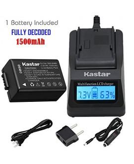 Kastar Fast Charger + Battery (1-Pack) for Panasonic DMW-BMB9, DMW-BMB9E, DMW-BMB9PP & Lumix DMC-FZ40, DMC-FZ45, DMC-FZ47, DMC-FZ48, DMC-FZ60, DMC-FZ62, DMC-FZ70, DMC-FZ72, DMC-FZ100, DMC-FZ150