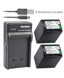 Kastar Battery X2 & Slim USB Charger for Sony NP-FV100 NP-FH100 DCR-SR15 SR21 SR68 SR88 SX15 SX21 SX44 SX45 SX63 SX65 SX83 SX85 HDR-CX110 CX115 CX130 CX150 CX160 XR160 CX360 CX560 CX700 PJ10 PJ30 PJ50