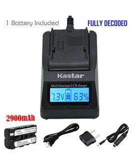 Kastar 1x Battery + Fast Charger for Sony NP-F570 NP-F550 NP-F530 NP-F330 & CCD-RV100 CCD-SC5 CCD-SC9 CCD-TR1 CCD-TR215 CCD-TR940 Camcorder, CN-126 CN-160 CN-216 CN-304 YN 300 VL600 LED Video Light