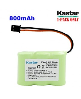 Kastar 1-P 2/3AA 3.6V 800mAh MSM Ni-MH Rechargeable Battery for Panasonic KX-TCM410 KX-A36 P-P301 Sony SPP-72/AQ25/AQ600 1-528-376-31 BP-T16/T185 Toshiba FF-675 FT-6203 TRB-5000 Uniden XC-315/330/600