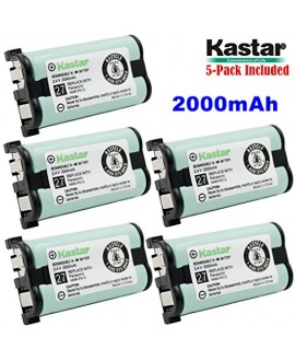 Kastar HHR-P513 Battery (5-Pack), Type 27, NI-MH Rechargeable Cordless Telephone Battery 2.4V 2000mAh, Replacement for Panasonic HHR-P513 HHR-P513A HHR-P513A1B HRR-P513A1B KX-TG2208 KX-TG2208B KX-TG2208W KX-TG2214 KX-TG2214B KX-TG2214S KX-TG2214W KX-TG221