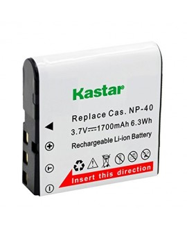 Kastar Charger, Battery for CNP40-G NP-40 CNP-40