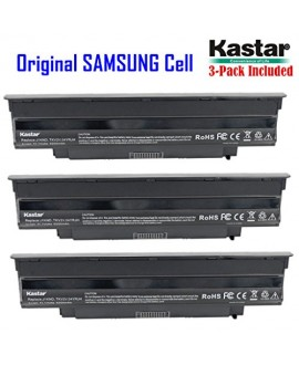 Kastar New Laptop Battery (3-Pack) for Dell Inspiron 13R (N3010) 14R (N4010) 14R (N4110) 15R (N5010) 17R (N7010) M5110 M4110 M501 M503 Series, Vostro 3450 3550 3550n 3750, Fits P/N J1KND 312-0234 383CW YXVK2 W7H3N J4XDH 9TCXN - [with Samsung Li-ion 6-cell