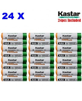 Kastar AAA (24-Pack) Ni-MH 1000mAh Super High-Capacity Rechargeable Batteries Pre-charged