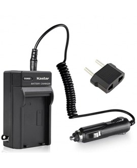 Kastar Travel Charger Kit for JVC BN-VF808, BN-VF808U, BNVF808 and JVC Everio GZ-MG130 148 150 155 175 255 275 575 GZ-HD7 GR-D745 746 750 760 770 771 775 790 796 JVC MiniDV + More camcorders
