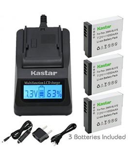 Kastar Ultra Fast Charger(3X faster) Kit and Battery (3-Pack) for Panasonic DMW-BLH7 DMW-BLH7E DMW-BLH7PP work with Panasonic Lumix DMC-GM1 DMC-GM1K DMC-GM5 DMC-GF7 Cameras