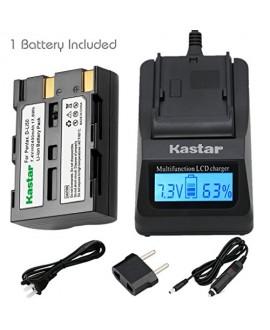 Kastar Fast Charger and Battery(1X) for Pentax D-Li50 Konica Minolta NP-400 and Pentax K10 K10D K20 K20D Minolta A-5 A-7 Dimage A1 A2 Dynax 5D 7D Maxxum 5D 7D Samsung SLB-1647 GX-10/20 Sigma BP-21 SD1