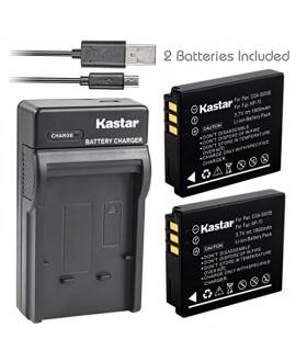 Kastar Battery (X2) & Slim USB Charger for Fujifilm NP-70 NP70 FNP-70 & Fuji FinePix F20, F20 Zoom, F40fd, F45fd, F47fd and Leica D-LUX3, Leica C-LUX 1, Leica D-LUX2, Ricoh Caplio R3, Ricoh Caplio GR