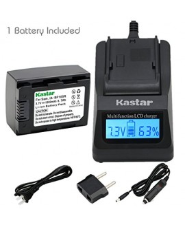 Kastar Fast Charger Kit and Battery (1-Pack) for IA-BP105R and Samsung HMX-F80 F90 HMX-F800 F900 SMX-F50 SMX-F53 SMX-F54 SMX-F500 SMX-F501 SMX-F530 SMX-F70 SMX-F700 HMX-H300 H303 H304 H305 HMX-H320