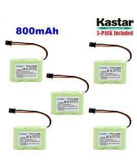 Kastar 5-P 2/3AA 3.6V 800mAh MSM Ni-MH Rechargeable Battery for Panasonic KX-TCM410 KX-A36 P-P301 Sony SPP-72/AQ25/AQ600 1-528-376-31 BP-T16/T185 Toshiba FF-675 FT-6203 TRB-5000 Uniden XC-315/330/600