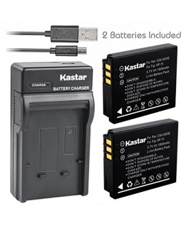 Kastar Battery (X2) & Slim USB Charger for Panasonic Lumix CGA-S005 S005E DMW-BCC12 and Lumix DMC-FS1 FS2 DMC-FX01 FX07 DMC-FX1 FX3 FX8 FX9 FX10 FX12 FX50 FX100 FX150 FX180 DMC-LX1 LX2 LX3