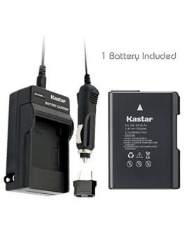 Kastar EN-EL14 Battery (1-Pack) and Charger for Nikon ENEL14 EN-EL14a MH-24 and Nikon Coolpix P7000 P7100 P7700 P7800 D3100 DSLR D3200 DSLR D3300 DSLR D5100 DSLR D5200 DSLR D5300 DSLR Df DSLR Cameras