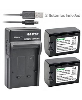 Kastar Battery (X2) & Slim USB Charger for Samsung IA-BP105R & HMX-F80 HMX-F90 HMX-F800 HMX-F900 SMX-F50 SMX-F53 SMX-F54 SMX-F500 SMX-F501 SMX-F530 SMX-F70 SMX-F700 HMX-H300 H303 H304 H305 HMX-H320
