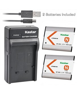 Kastar Battery (X2) & Slim USB Charger for Sony NP-BN1 NPBN1 BC-CSN and Cyber-shot DSC-QX10 QX30 QX100 DSC-TF1 DSC-TX10 TX20 DSC-TX30 DSC-W530 DSC-W570 DSC-W650 DSC-W800 DSC-W830 Digital Camera +More
