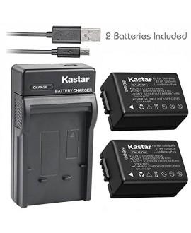 Kastar Battery x2 + Slim USB Charger for Panasonic DMW-BMB9 DMW-BMB9E DMW-BMB9PP & Lumix DMC-FZ40 DMC-FZ45 DMC-FZ47 DMC-FZ48 DMC-FZ60 DMC-FZ62 DMC-FZ70 DMC-FZ72 DMC-FZ100 DMC-FZ150 Leica V-Lux2 V-Lux3